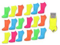 9 Paar NEON Sneaker Socken Damen & Herren Damensocken Herrensocken ANGEBOT