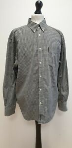 MENS BEN SHERMAN BLACK MIX CHECK L/SLEEVED COLLARED CASUAL SHIRT UK 2XL EU 58