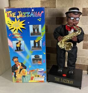 Vintage The Jazzman Saxophone Playing & Dancing Animatronic Doll Original Box