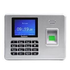 """2.8"""" TFT Fingerprint Time Attendance Clock Employee Payroll Recorder Silver New"""