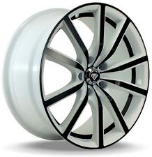 18 X 8 White Diamond Edition # 5363 Black White wheels & Tires 5 X112