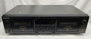 Sony - TC-WE475 - Stereo Double Cassette Deck - Black - Tested