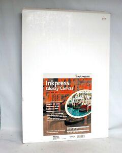 "InkPress Glossy Canvas 13"" x 19"" 10 sheets NEW SEALED"