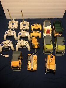 HUGE Rokenbok Building Toy Lot Cars And Remotes RC Loader WORKING TESTED