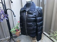 Juicy Couture Black Puffer Coat Jacket Down Filled Women's Size Medium