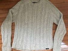 Abercrombie & Fitch Chunky Cable Knit Wool Blend Fisherman's Sweater Mens Ss XL