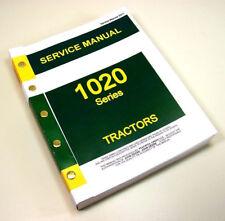 Service Manual For John Deere 1020 Tractor Repair Shop Technical Workshop Book
