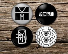 More details for mogwai badge magnet keyring mirror set of 4 or single young team rave tapes, pin