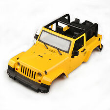 1/10 RC Topless Body Shell Jeep Wrangler Rubicon Hard Plastic SCX10 CC01 D90