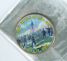 2013 D Kennedy Half Dollar painted Obverse First battle of Bull Run Civil War