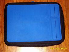 New listing Bedtek Blue Lap Desk Cushioned Padded Portable Travel Laptop Reading Book Rest