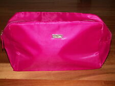 TARTE PINK COSMETIC MAKE UP BAG 10.5 X 6.25 X 4.75 LARGE NEW STORES FLAT