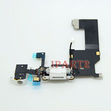 Charging Dock Headphone Jack Mic Connector Antenna Flex Cable for iPhone 5 White