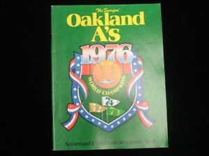 1976 Oakland A's World Champions Souvenir Yearbook EX+