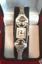 Antique Art Deco 18Kt White Gold Swiss Movement Frey Co. Ladies Watch!!