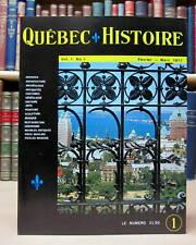QUÉBEC-HISTOIRE. REVUE POPULAIRE ILLUSTRÉE. ARCHIVES - ARCHITECTURE - ANTIQUITÉS