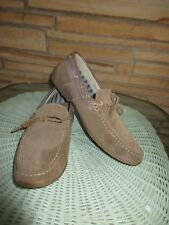 Robert Wayne Sz 12 M Suede Driving Moccasins Loafers Deck Shoes Beige