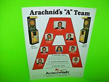 Arachnid A ENGLISH MARK DARTS Original NOS Vintage Arcade Game Promo Sales Flyer