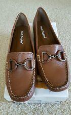 NIB Hush Puppies Tan Leather Cora Slip-On Loafers Size 10