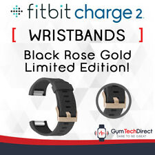 Fitbit Charge 2 Black Rose Gold Replacement Wristband Accessory!