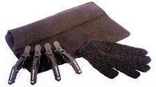 Heat Protection Hair Glove, Black Heat proof Travel Mat  & 4 x Cloud 9 Clips