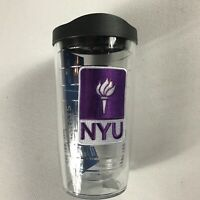 NYU Tumbler Tervis Violets Student Alumni Drink Mug Cup New York University 16oz