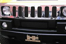 Grillcraft #HUM2500B Hummer H2 Black MX Grille Upper 7pc Insert