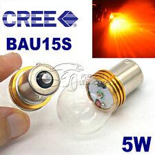 2x 5W Bau15s 581 PY21W 7507 CREE XBD CAR LED Turn Signal Light Bulb Amber Yellow