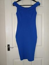 Ladies BNWOT New Look Blue Off The Shoulder Dress Size 10