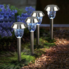 4Pack Garden Outdoor Stainless Steel LED Solar Landscape Path Light Waterproof