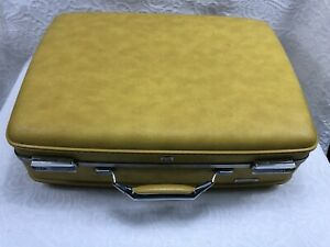 American Tourister Yellow Hard Shell Suitcase - Vintage