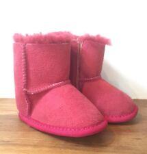 Ugg Australia Sheepskin Baby/Toddler UGG Boot Slippers Pink/Red 3 Or 18months