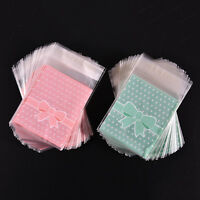 100Pcs Bowknot Cellophane Party Favour Cookie Sweet Candy Biscuit Gift Bags hcuk