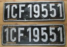 Allied Forces in France 1950's License Plate PAIR # 1CF19551