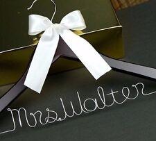 Font B Personalized Wedding Hanger Bridal Bridesmaid Hanger Wedding Shower Gift