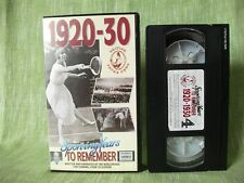 Sporting Years to Remember 1920-30; Ian Wooldridge; Channel 4, W.H. Smith; VHS
