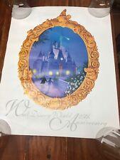"Walt Disney World 25th Anniversary Poster 16"" x 20"" Cinderella's Castle (MA)"