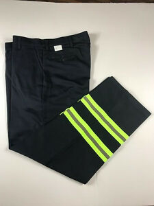New Red Kap Reflective Pants Hi Vis Safety Towing Navy Work Uniform  PC20DN