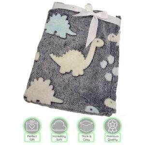 Super Soft Dinosaur Baby Blanket 75cm X 100cm Suitable from Birth New Unisex