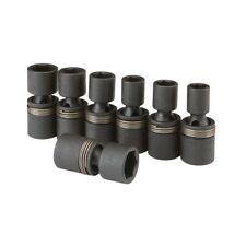 "7 Pc 3/8"" Dr Universal Joint Air Impact Socket Set Metric Universal Joint Socket"