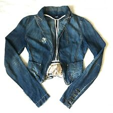 Patrizia Pepe Women's Distressed Denim Jacket Size Italy 44 US 8 See Measurement