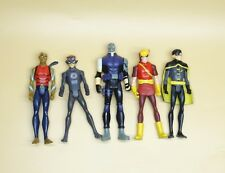 LOT OF 5 DC UNIVERSE YOUNG JUSTICE JLU robin SPEEDY SPORTSMASTER CHESHIRE  4""