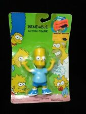 "1990 The Simpsons Bendable Action Figure 4.5"" Bart Sealed Jesco Vintage"