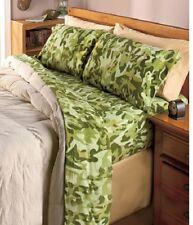 TWIN Camo FLEECE Sheet Set Green Camouflage - IN HAND & READY TO SHIP!!