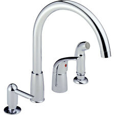 Peerless P88900LF Single Handle Waterfall Widespread Kitchen Faucet Chrome