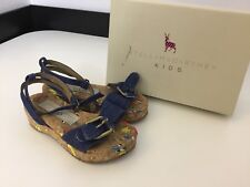 Stella McCartney Kids Blue Denim Sandals Shoes Size 24 Uk 7 Boxed Cork Heels
