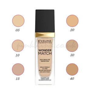 Eveline Wonder Match Face Foundation 30ml 24H Matches Skin Oil-free 6 shades