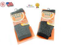 2 Pair Mens Heated Sox Socks Thermal Socks Keeps Feet Warmer Longer