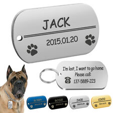 Personalized Dog Tags Custom Military Tags Free Engraved Pet Name Phone ID Tag