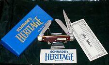"Schrade 8341 Junior Stockman Bone Stag Knife ""Everlastingly Sharp"" W/Packaging"